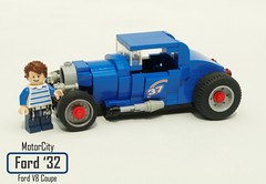 MotorCity Ford 1932 V8 Coupe & Roadster (lego911) Tags: motorcity ford 1932 32 v8 coupe roadster hotrod moc model lego lego911 howtobuildbrickcars how build brick cars peter blackert book lugnuts challenge 120 happy10thanniversarylugnuts happy 10th anniversay 109 deuceswild deuces wild classic vintage 1930s custom foitsop