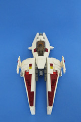 White Arrow Starfighter - Viper Shot (Johann Dakitsch) Tags: science fiction scifi starfighter spaceship ship space fighter future toy custom moc lego system vic viper novvember