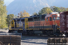 BNSF 2855 & 2958 (youngwarrior) Tags: gp392 bnsf train homevalley washington locomotive emd atsf