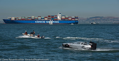 Fleet Week 10-2017 (daver6sf@yahoo.com) Tags: sanfranciscobay fleetweek containership davidlorean bostonwhaler tug tractortug coscoshipping sailboat eastbayhills