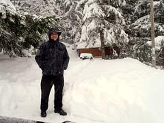 Snowfall at the end of November 007 (jano45) Tags: november snowfall slovakia donovaly snow man male guy