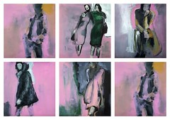 Femmes En Rose [201709] (rodneyvdb) Tags: abstracted art contemporary expression expressionism fashion femme figurative fineart modern model muse painting pink rose vieenrose vogue woman
