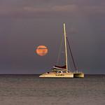 Moon Setting Over Yacht thumbnail