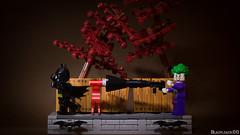Joker vs Batman (black.zack00) Tags: joker batman dccomics lego vignette minifig funny humour afol