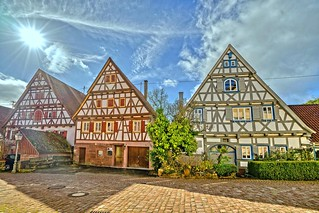 half-timbered houses in Zavelstein