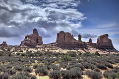 Arches National Park in South Eastern Utah 18 (Largeguy1) Tags: approved arches national park south eastern utah clouds landscape blue sky canon 5d mark ii hdr