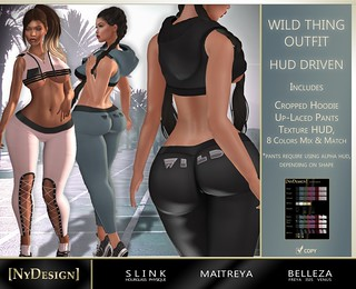 [NyDesign] Wild Thing Outfit - HUD Driven (Fatpack)