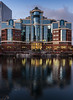 Early Evening at Atlantic House (Geoff France) Tags: salford salfordquays architecture building glass water reflection landscape urbanlandscape