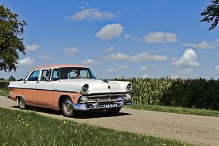 Ford Customline 8 Fordor Sedan 1955 (5126)