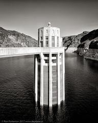 Intake Tower (dejavue.us) Tags: blackandwhite d90 bwbook nevada mojavedesert hooverdam monochrome nikon 180350mmf3545 desert nikkor arizona