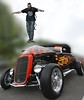 Maxwell Jump! (swong95765) Tags: hotrod skateboard ford vintage classic stunt bokeh awesome spectacle guy man kid jump trick
