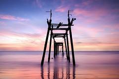 wooden-bridge-2 (pattana92392) Tags: bridge seawave sea longexposure sunset coast