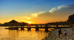 Sunset : Lower Peirce Reservoir, SIngapore (Br@jeshKr) Tags: sunset sunsetglow goldenhour sunrise sunburst lowerpiercereservoir sun pier brajeshart photographer evening singapore