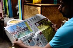 _DSC9576 (Orca5067) Tags: india varanasi newspaper reading man streetphotography taj