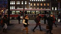King Street Car (Roozbeh Rokni) Tags: toronto canada ttc streetcar downtown commute city roozbehrokni ontario work busy