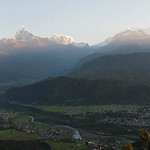 Le massif de l'Annapurna vu de Sarangkot, Népal thumbnail