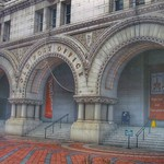 Trump International Hotel - Formerly Old Post Office  ~  Original Arches Entrance  -  Washington DC thumbnail