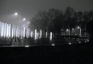 Budapest lighted poles monument