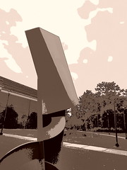 PB100221dsaftt (photos-by-sherm) Tags: cultural arts building uncw university north carolina wilmington nc fall november architecture sculptures grounds grasses trees plants bicycles