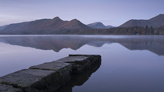 Blue hour (Peter Henry Photography) Tags: blue cold morning frost lake derwentwater still calm tranquil jetty lakedistrict cumbria bluehour dawn daybreak