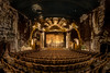 Curtain Down (Walter Arnold Photography) Tags: columbiatheater paducah arts abandoned ky walterarnoldphotography 2017 columbia historic kentucky theater walterarnoldphotography2017 seats rows curtain ornate decay decaying old crumbling theatre cinemas cinema performance