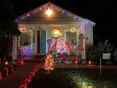 American Patriotic Christmas ...Read the Sign (Debra van Hulsteyn) Tags: donaldtrumpisavulgarpig readthesign christmaslights christmas patriotism usa holiday lights sacramento menorah