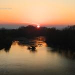 Sunset over Timiș River, Province of Banat, Romania thumbnail