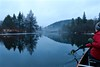 Paddling a mirror (deanspic) Tags: vfmc dalesvilleriver canoe canoeing lakelouisa quebec river fog reflections mirror g3x