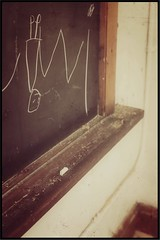 Diving into the Past (Note-ables by Lynn) Tags: strathconaschool classroom retro chalk chalkboard