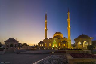 Timeslice: Day to Night of the Said bin Taimor Masjid, Muscat, Oman