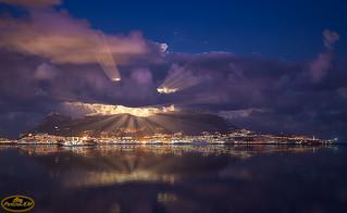 Super Luna - tras las nubes