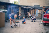 summer afternoon (realnasty) Tags: lodz poland street people kid candid prime olympus m43 mft microfourthirds grill play courtyard backyard children ball leisure rest working class urban