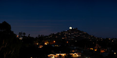Supermoon over Mt. Helix. (explored) (isaacullah) Tags: supermoon panorama hugin darktable gimp open source moon night olympus