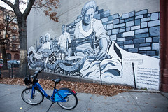 Harlem, New York (Quench Your Eyes) Tags: citibike citibikes ny thrivecollective bicycle harlem manhattan newyork newyorkcity newyorkstate nyc travel streetart wallart urbanart art mural artist outdoor eltemplobiblico soharleminc soharlem uptownmanhattan centralharlem
