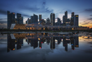 Singapore - Skyline Puddles