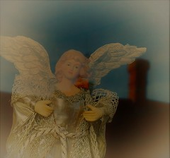 THERE MUST BE AN ANGEL (Poppy ♥ Cocqué ♫) Tags: ap angel reflection glass window p❀ppy