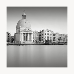 Domed (GlennDriver) Tags: black white bw mono monochrome venice italy canal water europe sqaure tranquil long exposure church architecture buildings canon still nd filter
