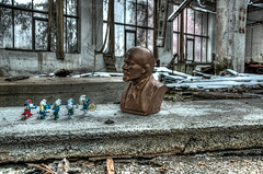 Strange meetings (kobianda) Tags: urban lenin dwarfs disney totalitarian lost history past hdr challenge differenttimes urbex destruction decay abandoned