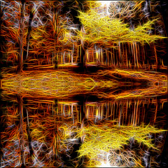 Autumn Reflection (Bob Smerecki) Tags: smackman snapnpiks robert bob smerecki sports art digital artwork paintings illustrations graphics oils pastels pencil sketchings drawings virtual painter 6 watercolors smart photo editor colorization akvis sketch drawing concept designs gmx photopainter 28 draw hollywood walk fame high contrast images movie stars signatures autographs portraits people celebrities vintage today metamorphasis 002 abstract melting canvas baseball cards picture collage jixipix fauvism infrared photography colors negative color palette seeds university michigan football ncaa mosaic
