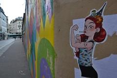 woman of Paris (Jeanne Menjoulet) Tags: caricature femme parisienne paris croissant frog français french parisian woman