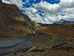 The gorge !! (Lopamudra !) Tags: lopamudra lopamudrabarman lopa india himalaya himalayas highaltitude highland himachal himachalpradesh hp spiti spitivalley valley vale mountain mountains hill lalung sky skyscape clouds cloud colour color colours colourful cold gorge river stream road path beauty beautiful picturesque picture nature lingti landscape