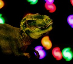 "Week 47 - Shaped Bokeh: ""Does T-Rex Dream of Electric Brachiosaurus?"" (Caleb McCary) Tags: dinosaur toy bokeh shaped canon canonbringit 85mm dogwood2017 dogwood2017week47"