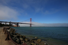 Foggy bridge (Mettwoosch) Tags: goldengate bridge sanfrancisco bay california usa america coast water pacific sky fog clouds ocean sea kalifornien amerika bucht brücke himmel wolken nebel wasser küste canon eos 5dm3 ef lens 5d3 travel vacation urlaub holiday trip