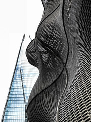 Surfaces (marktmcn) Tags: pointed bridge boilerhouse boiler suit surface woven steel cladding tiles designer guys hospital building thomas heatherwick shard tower glass pyramid skyscraper architect renzo piano london undulating curved curvaceous texture textured