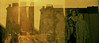 the immigrant story (m_travels) Tags: sixgatesfilms godard200slidefilm analog crossprocessed xpro c41 e6 newyork nyc manhattan jr artist mural immigrants conceptual ellisislandchildren doubleexposure multiple tribeca