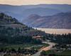 Summerland (Brady Baker) Tags: okanagan valley lake british columbia bc explorebc canada150 canada beautifulbc summerland wine winery agriculture industry giants head park view vista lookout summer grape grow growth green sunset dusk outdoor nature landscape mountain evening road lights