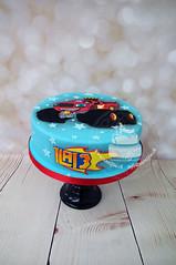 Kids Car Cake (toertlifee) Tags: törtlifee car auto cake kuchen kinder feuer flame fire red rot blau blue