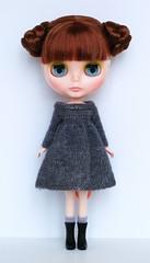 Blythe Baby's Breath (*KaChu*) Tags: blythe babysbreath grey knitting knittingfordolls knitteddress doll fashion