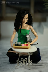 no sushi for the cat (photos4dreams) Tags: photos4dreams p4d photos4dreamz hmm macromondays monday makro barbie doll lea asian dress mattel toy barbies girl play fashion fashionistas outfit kleider mode