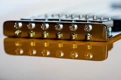Burning Bridge (PhilR1000) Tags: guitar electric music macromondays musicalinstruments bridge memberschoicemusicalinstruments reflection
